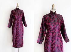 Jahrgang 1940er Jahre Cheongsam Kleid / / 40er von TrunkofDresses