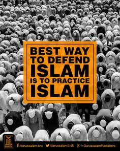 Live your life as Prophet Muhammad (PBUH) taught those before us. Let's show others the truth of Islam through our behavior.
