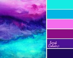 So pretty! Teal and purple color palette