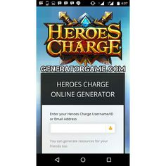 [NEW] HEROES CHARGE ONLINE HACK 100% WORKS 2015 : www.heroeschargegenerator.tk and get Unlimited Coins and Gems : www.heroeschargegenerator.tk This Method Really Works : www.heroeschargegenerator.tk  More hack online : www.generatorgame.com  #generatorgame#onlinegeneratorgame #heroescharge#heroeschargehd #heroeschargeguild#heroeschargedraw #heroescharges#heroeschargeesp #heroeschargebrunei#hc #heroeschargemode#heroeschargeandroid #heroeschargepamore#heroeschargecard…