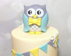 Items similar to Fondant Owl Cake Topper on Etsy