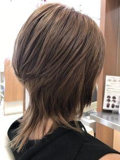 検索(画像) in 2020 Medium Shag Hairstyles, Messy Bob Hairstyles, Medium Hair Cuts, Medium Hair Styles, Short Hair Styles, Asymetrical Haircut, Grey Curly Hair, Mullet Hairstyle, Hair Color Formulas