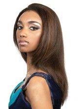 Natural Long Layered Straight Lace Front Wig