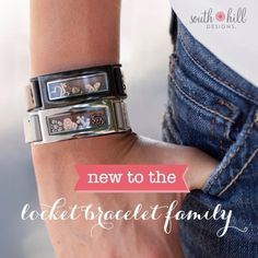 LOVE, love the new graphite locket bracelet! Wrap it up with South Hill Designs Leather Wrap Bracelets! Locket Bracelet, Locket Charms, Pandora Charms, Lockets, Locket Design, Jewelry Design, South Hill Designs, Felt Hearts, Bracelet Designs