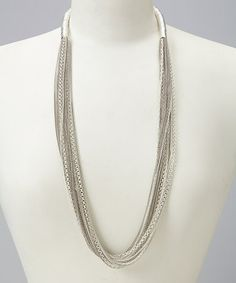 Love this Silver Mesh Dahlia Necklace by Guinevere and Co Jewelry on #zulily! #zulilyfinds