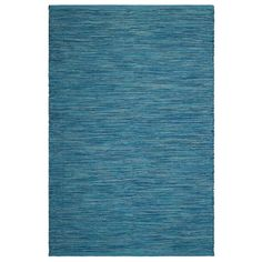 Fab Habitat, Indoor/Outdoor Floor Mat/Rug - Handwoven, Made from Recycled Plastic Bottles - Cancun/Blue - 2' x 3' (2' x 3'), Size 2' x 3' (Polyester, Geometric)