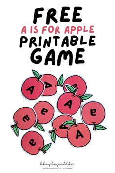Introduce your toddler or preschooler to phonics with this fun and FREE A is for Apple Activity printable! 2 fun games in one printable! Printable Alphabet Worksheets, Preschool Printables, Printable Crafts, Worksheets For Kids, Free Printables, Teaching Tips, Learning Resources, Fun Learning, Apple Activities