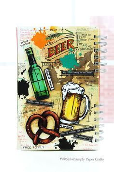 Simply Paper Crafts: Mixed Media Art Journal Food and Drink Beer