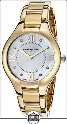 0b86d9431321f Raymond Weil Noemia Mother of Pearl Diamond Yellow Gold PVD Steel Ladies  Watch
