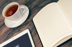 Freelance workspace  #tablet #coffee #ipad #apple #mobile #table #notebook #freelance #office #documents #workspace #psd #