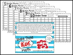 """download a set of worksheets and directions for """"Shake Those Beans"""""""