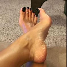 Long acrylic nails and sexy pedicures Nice Toes, Pretty Toes, Feet Soles, Women's Feet, Foot Pedicure, Long Toenails, Feet Nails, Beautiful Toes, Foot Toe