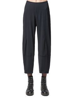 These matte jersey pants from Porto travel well! Style lines extend from the waist and release into the leg, creating a soft tulip shape. Elastic waist creates a fitted look with stretch. Made in the U.S.A. Tulip, Elastic Waist, Sweatpants, Shape, Fitness, Travel, Clothes, Fashion, Porto