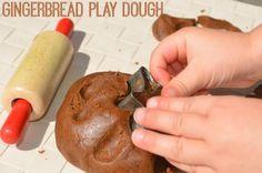 Gingerbread Play Dough Recipe! Smells amazing!