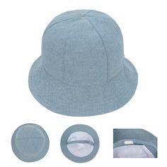 768ebb8bfb9d8 Find More Hats  amp  Caps Information about Child Denim Sunbonnet Cap  Toddler Cotton Bucket Hat