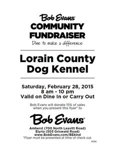 We have a fund raiser coming up in 2 weeks - mark your calendars!