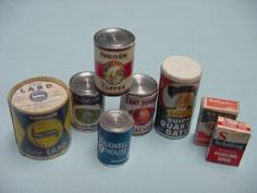 Groceries/Canned/Boxed : Kent's Mini Treasures, Artisan Dollhouse Miniatures