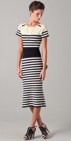 techno striped dress