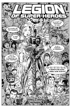 Legion of Superheroes Homage to Fantastic Four Issue 262 ( Infinite Timelines : A Metallic Messiah - Chapter 21 ) Comic Art