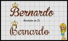 Bernardo, Cross Stitch, Veronica, Mary, Pasta, Tattoo, Ideas, Cross Stitch For Baby, Xmas Cross Stitch