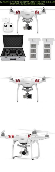 DJI Phantom 3 Standard Quadcopter Aircraft with 3-Axis Gimbal and 2.7k Camera, - Bundle With Spare Battery, DJI Aluminum Case #camera #tech #gadgets #phantom #kit #parts #racing #drone #plans #standard #shopping #quadcopter #dji #3 #products #technology #camera #2.7k #fpv