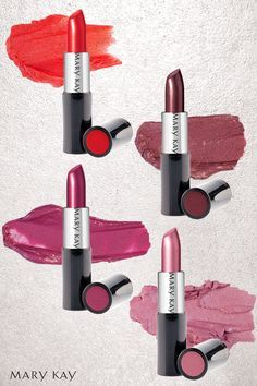 Whether you choose Really Red, Rich Fig, Apple Berry, or Frosted Rose your pout will stand out as a total show-stopper. | Mary Kay