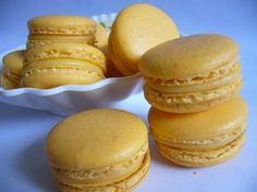 orange ganache macarons