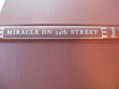 Miracle On 34th Street by Valentine Davies 1947 First Edition Book by ShopWithLynne for $7.00