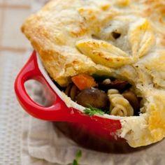Wild mushroom and pasta pot pie for thanksgiving
