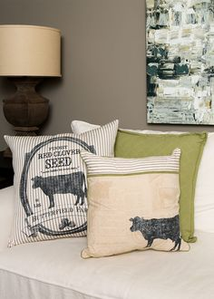 Farmhouse Cow Pillow Cover | Heritage Lace