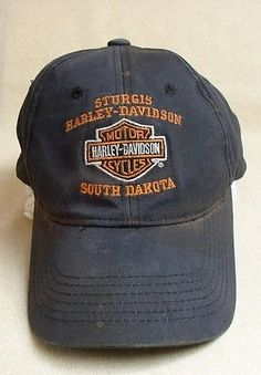 Harley Davidson Hat ~ Sturgis ~ Original and Well Worn ~ One Size Fits All 497891ff18b1