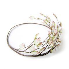 Blatt Kopfstück Stirnband Tiara Brautkrone von curtain road auf DaWanda.com