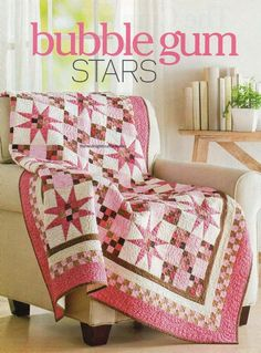 Bubble Gum Stars Quilt Pattern Pieced MP