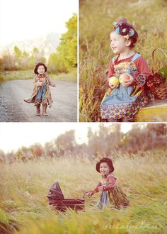 little girls, heart, vintage photos, colors, daughters, apples, hair bows, fields, toddler outfits