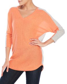 Magaschoni Two-Tone Dolman Sweater