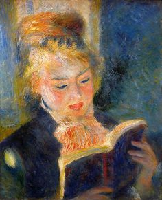 Pierre-Auguste Renoir, Woman reading. One of my ALL TIME FAVORITE PAINTINGS!