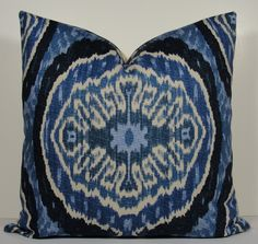 Decorative Designer Pillow Cover  Duralee IKAT   by WilmaLong, $46.00