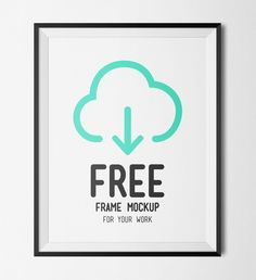 20 Free Poster Mockups from SpoonGraphics | PSD Files | Free Frame Mockup by Blue Monkey Lab #graphicdesign #freebie