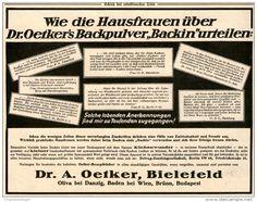 Original-Werbung/Inserat/ Anzeige 1926 : DR.OETKER BACKIN ca. 180 x 135 mm