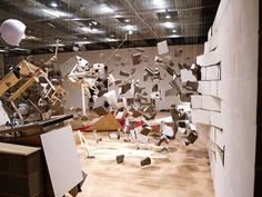 Los Carpinteros' Show Room Installation Shows Destruction From Every Angle