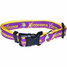 "-""Minnesota Vikings NFL Dog Collars"" - BD Luxe Dogs & Supplies"