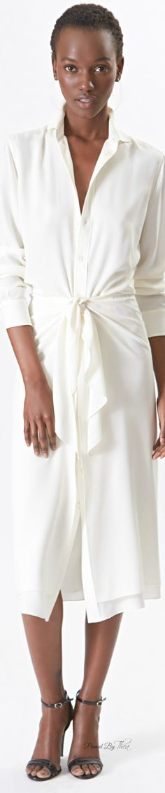 """YES. She could wear our #ToplessTee #undershirt for women in the color, """"Dark,"""" and you'd never see its invisible protection!  Ralph Lauren ● Resort 2016 ~ Tнεα"""