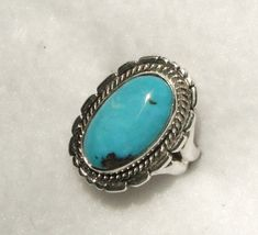 BISBEE BLUE TURQUOISE Ring 773 by Flagstafftraders on Etsy