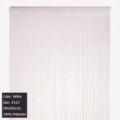 Wholesale (12 pieces/lot) 3'x12' (90x365cm) White String curtain fringe curtain panel for wedding decoration Free shipping on AliExpress.com. $242.76