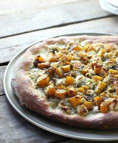 Roasted Butternut Squash Sage Pizza - FoodBabbles.com