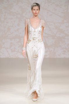 A #wedding dress with sleeves from Jenny Packham, Spring 2011