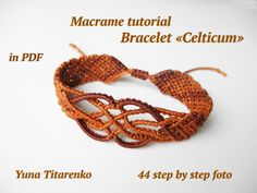 "Macrame tutorial Bracelet ""Celticum""                                                                                                                                                                                 More"