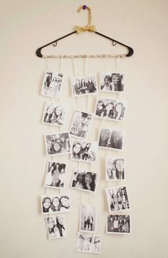 die beste Geschenk Idee für Weihnachten - Kleiderbügel als Fotocollage selber machen