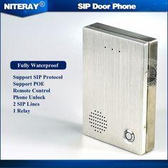 Audio sip puerta sistema de control de acceso de intercomunicación timbre de la puerta timbre de la puerta de teléfono ip sip compatible con asterisk/alcatel/avaya/cisco pbx