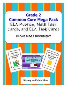 Common Core Grade 2 Mega Pack - Literacy and Math Ideas - TeachersPayTeachers.com